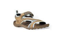 Timberland Women's Pinkham Notch Sandal FTW tan with light blue